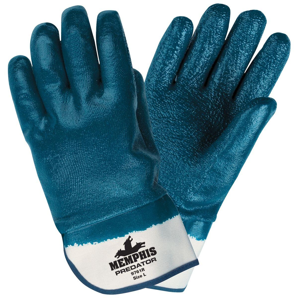 Memphis Predator Gloves Blue Extra Rough Fully Coated