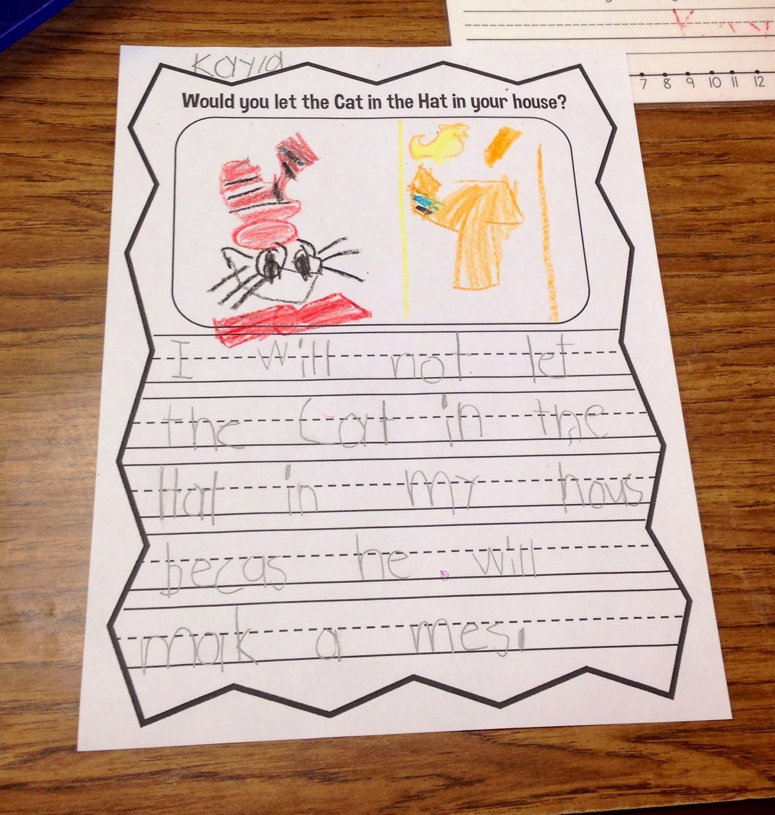 Opinion Writing Would You Let The Cat In The Hat In Your
