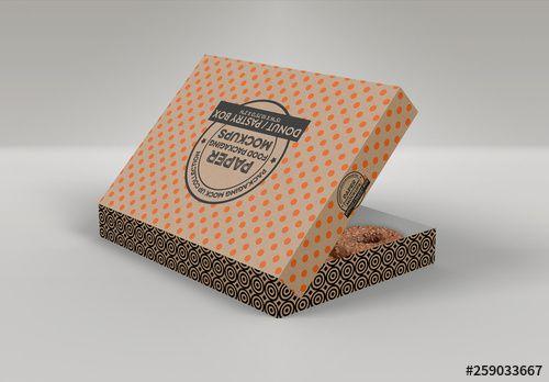 Download Dozen Donuts Box Mockup , #Sponsored, #Donuts, #Dozen, # ...