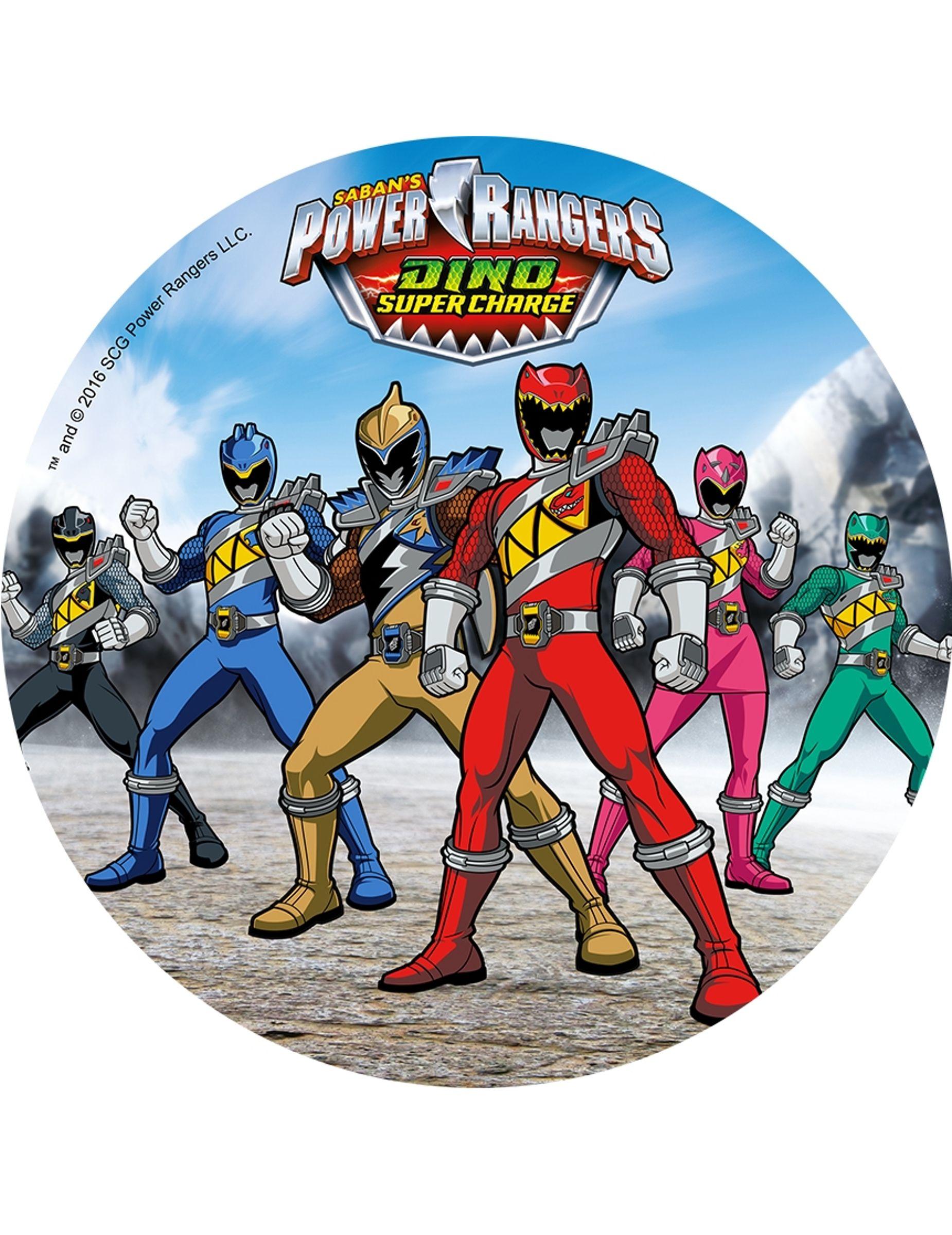 Geschmackvoller Power Rangers Tortenaufleger Lizenzartikel Bunt 21cm Gunstige Faschings Partydeko Zubehor Bei Karneval Megastore Power Ranger Party Power Rangers Ranger