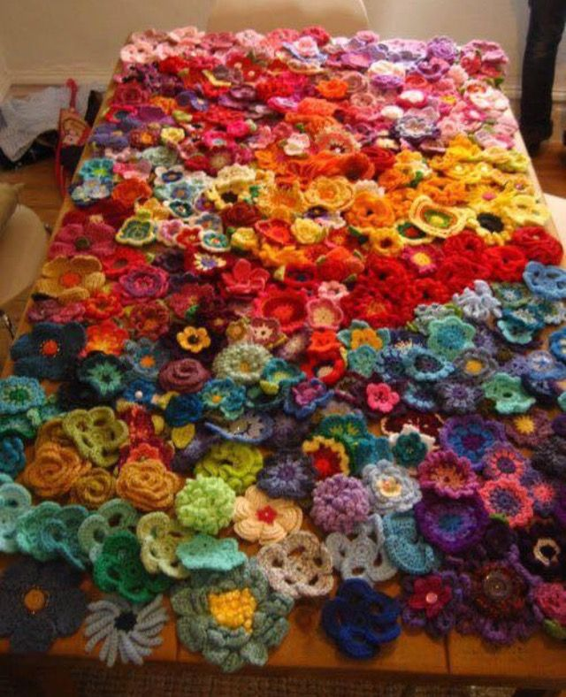 Todas las flores habidas y por haber juntas en una misma colcha ...