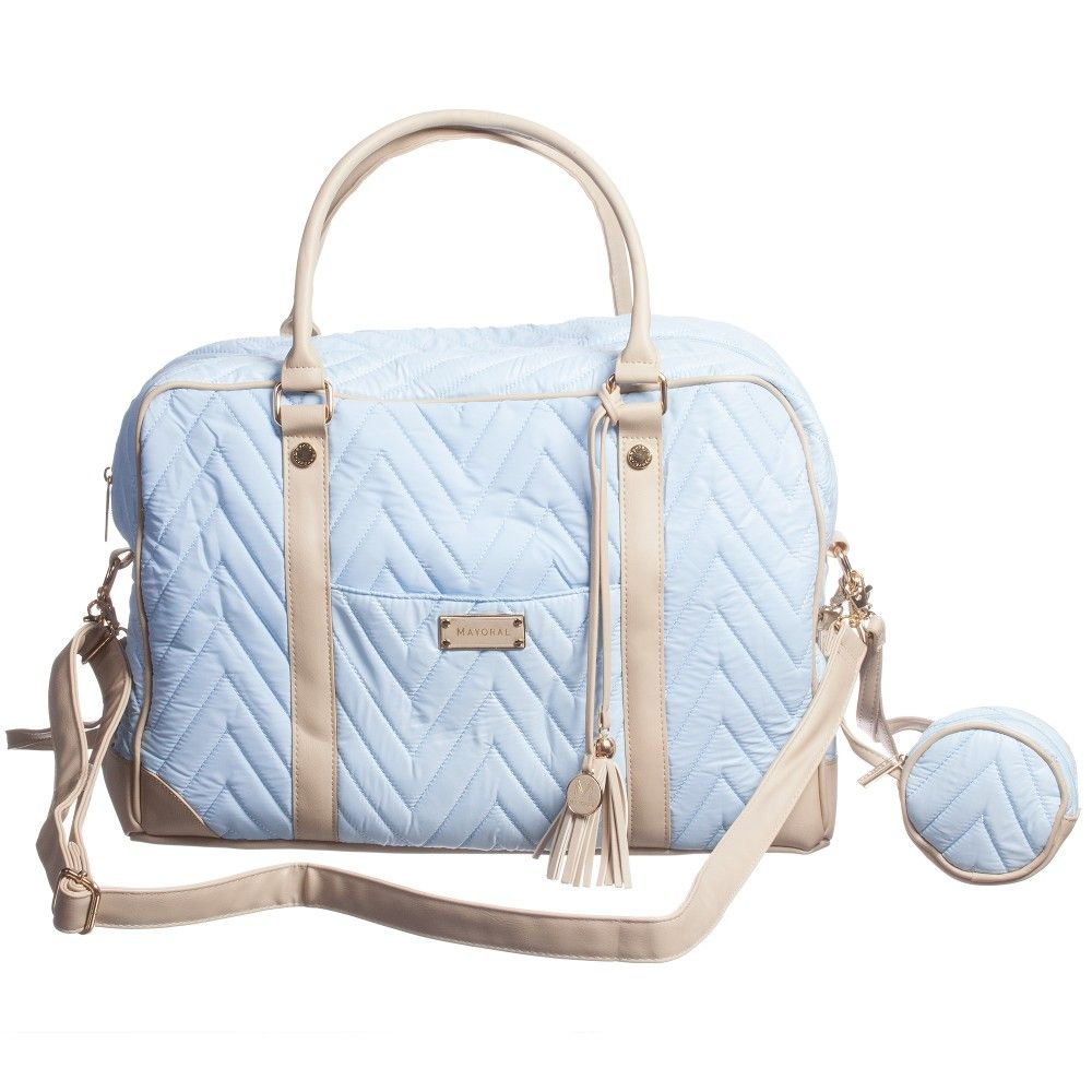 70ffbf1bd704a Mayoral Pale Blue Quilted Baby Changing Bag (40cm) at Childrensalon ...