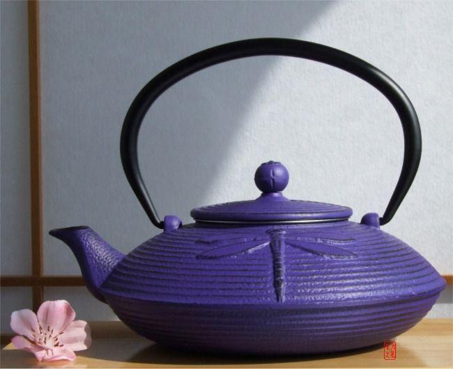 Google Image Result for http://www.giftsoftheorient.co.uk/ekmps/shops/wallgren/images/cast-iron-purple-dragonfly-tea-pot-kettle-0.8-litre-japanese-tetsubin-style-1838-p.jpg