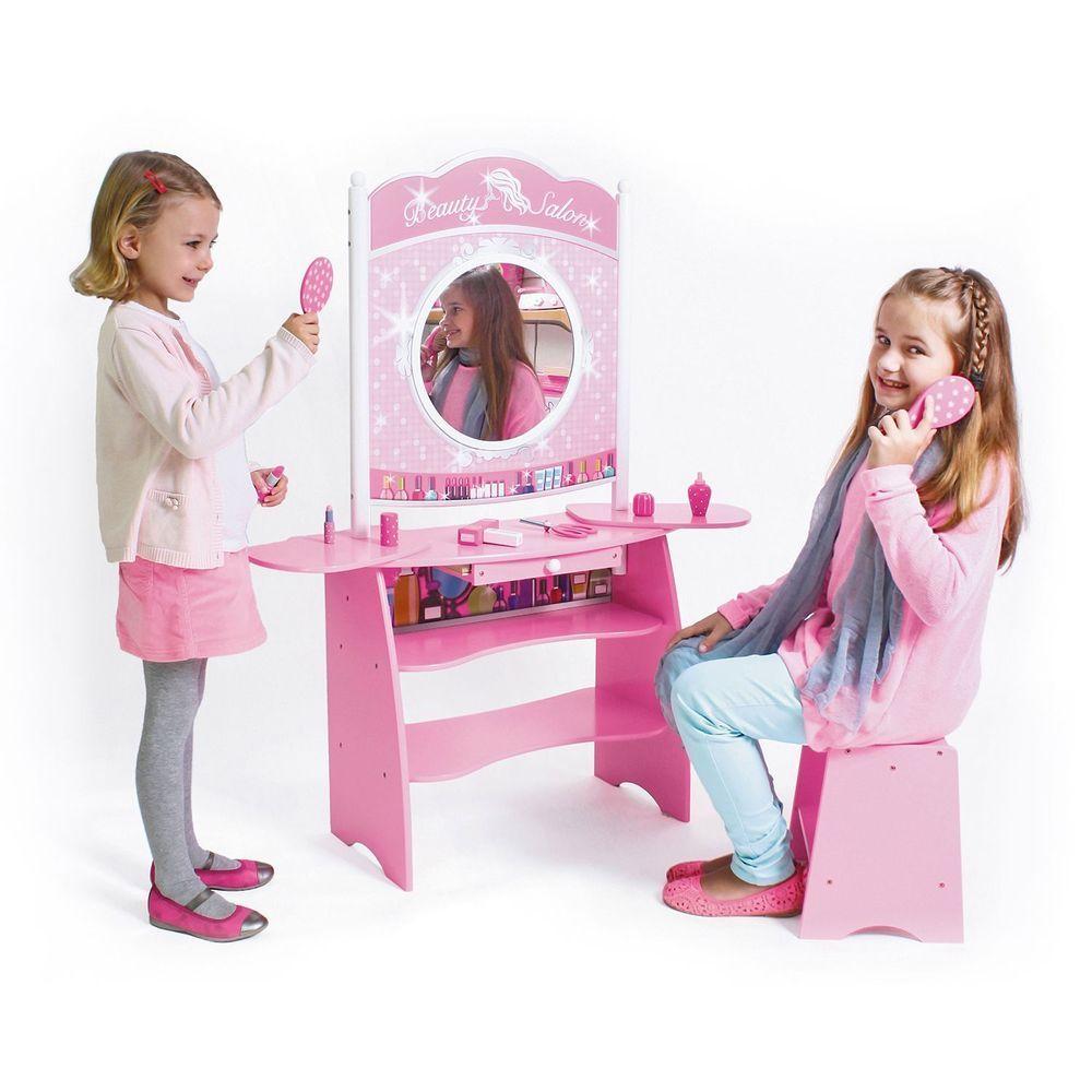 Girls Pink Vanity Beauty Salon Cafe Store Combo Hair Shop Pretend Play  Dress Up