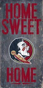 Fan Creations 7846004805 Florida State Seminoles Wood Sign  Home Sweet Home 6 x 12 in -- You can find out more details at the link of the image.