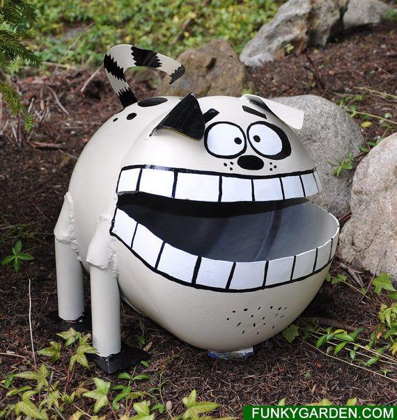 Dog Propane Tank Sculpture | Metal yard art, Sculpture ...
