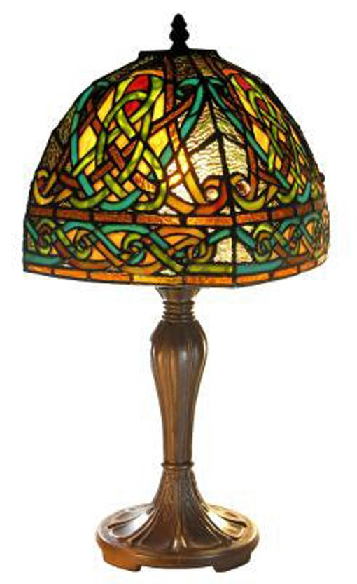 Stained Glass Celtic Celebration Lamp 18 inches