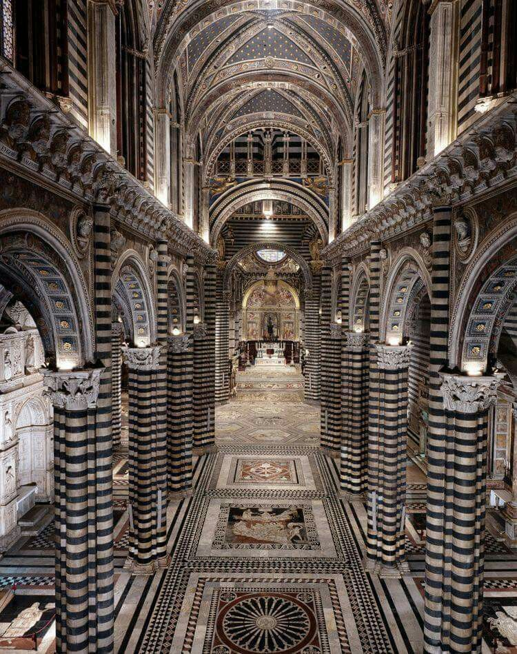Catedral de SIENA#   Siena, Italia, Arquitectura antigua