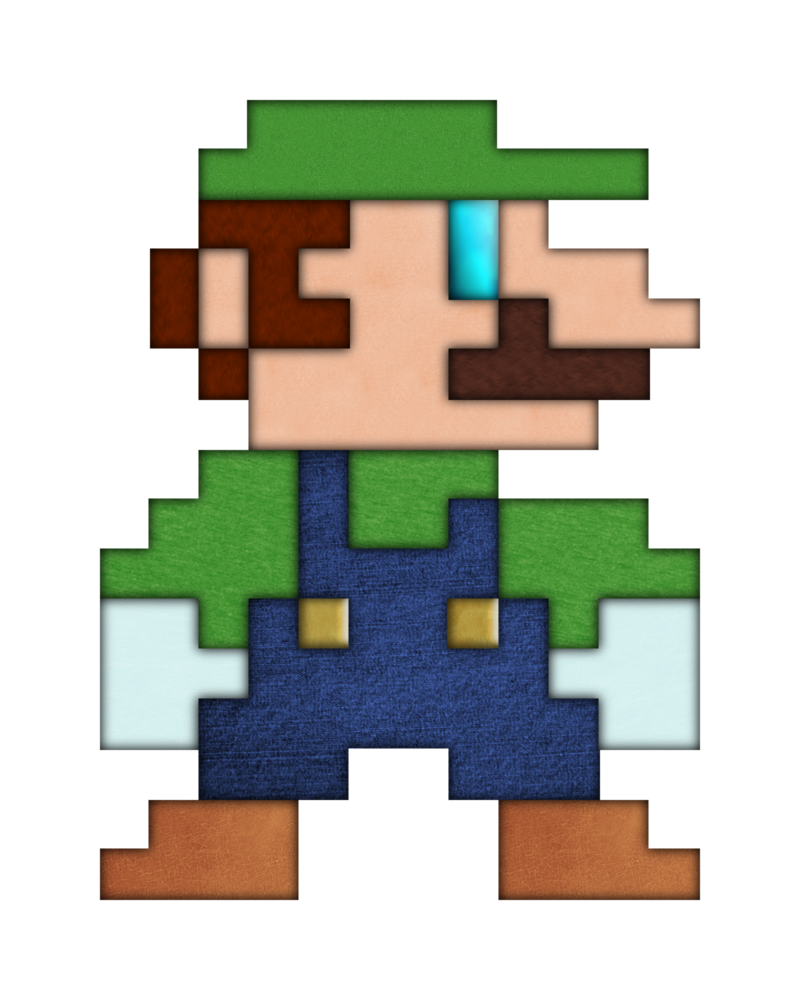 Real Life 8 Bit Luigi By BrulesCorrupted