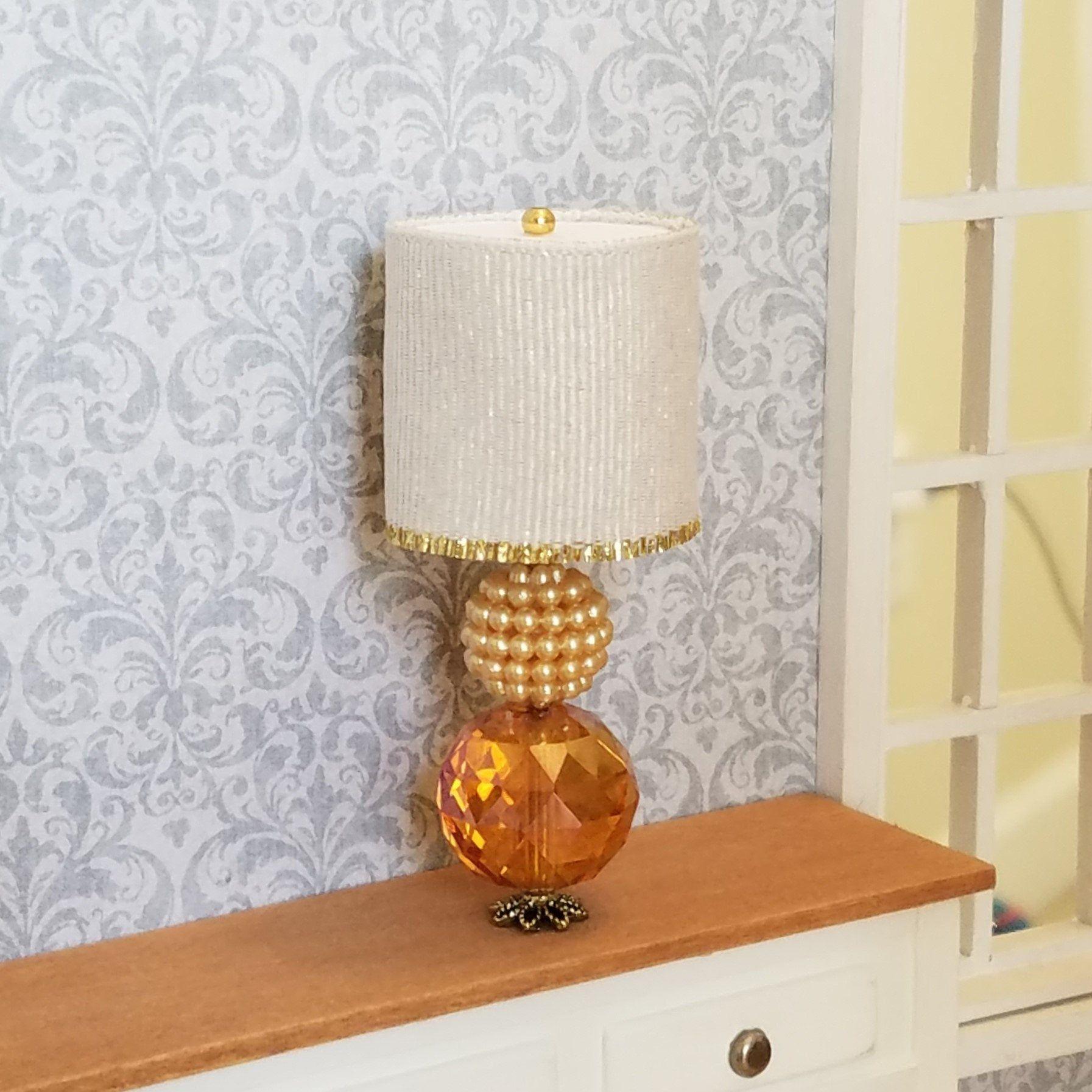 Miniature Lamps Miniature Table Lamps Dollhouse Lamp Amber