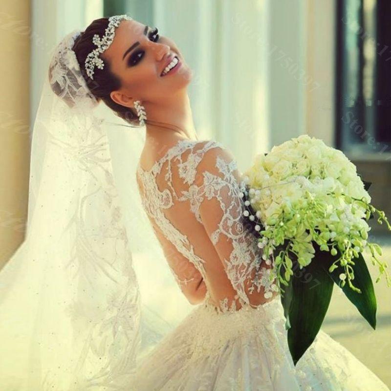 Barato 2016 novo De venda quente Custom Made vestidos De Casamento Vestido De Noiva Casamento Robe De Mariage impressionante Lace Train, Compro Qualidade Vestidos de noiva diretamente de fornecedores da China:              &nbsp
