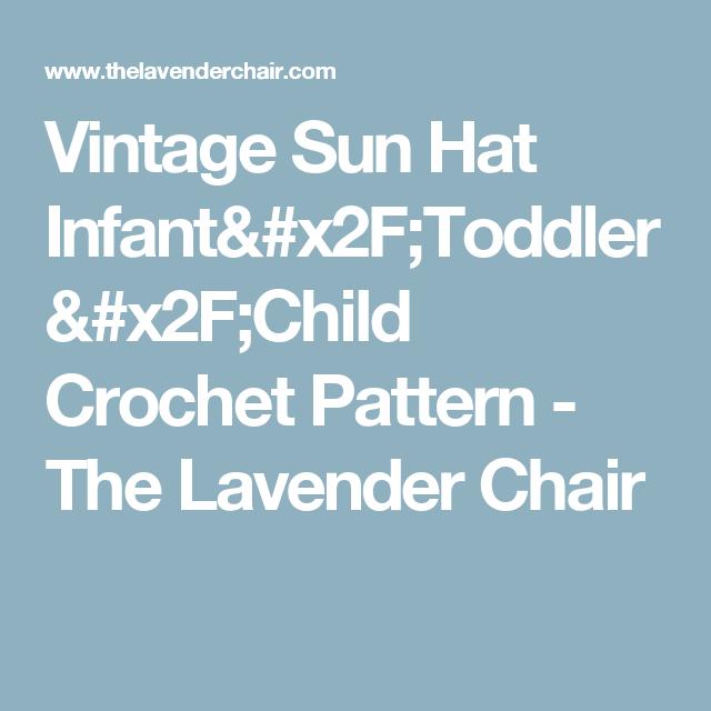 Vintage Sun Hat (Infant - Child) Crochet Pattern | Pinterest