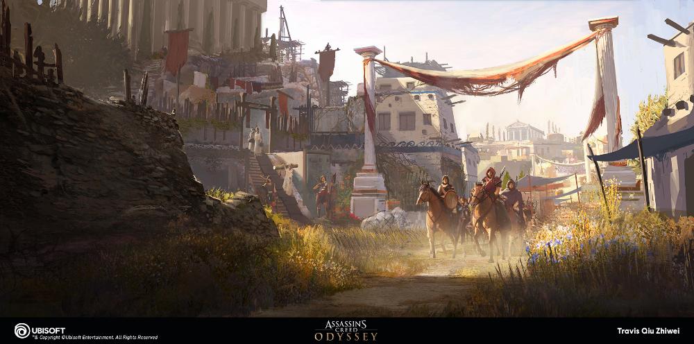 Artstation Assassin S Creed Odyssey Lesbos Concept Art Travis