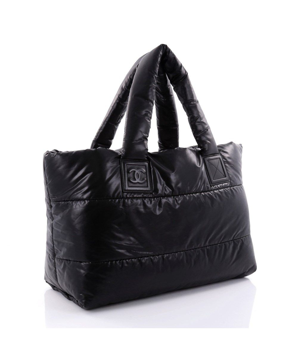 b3a847918610 Chanel Nylon Coco Cocoon Large Black Tote Bag. Get one of the hottest  styles of the season! The Chanel Nylon Coco Cocoon Large Black…