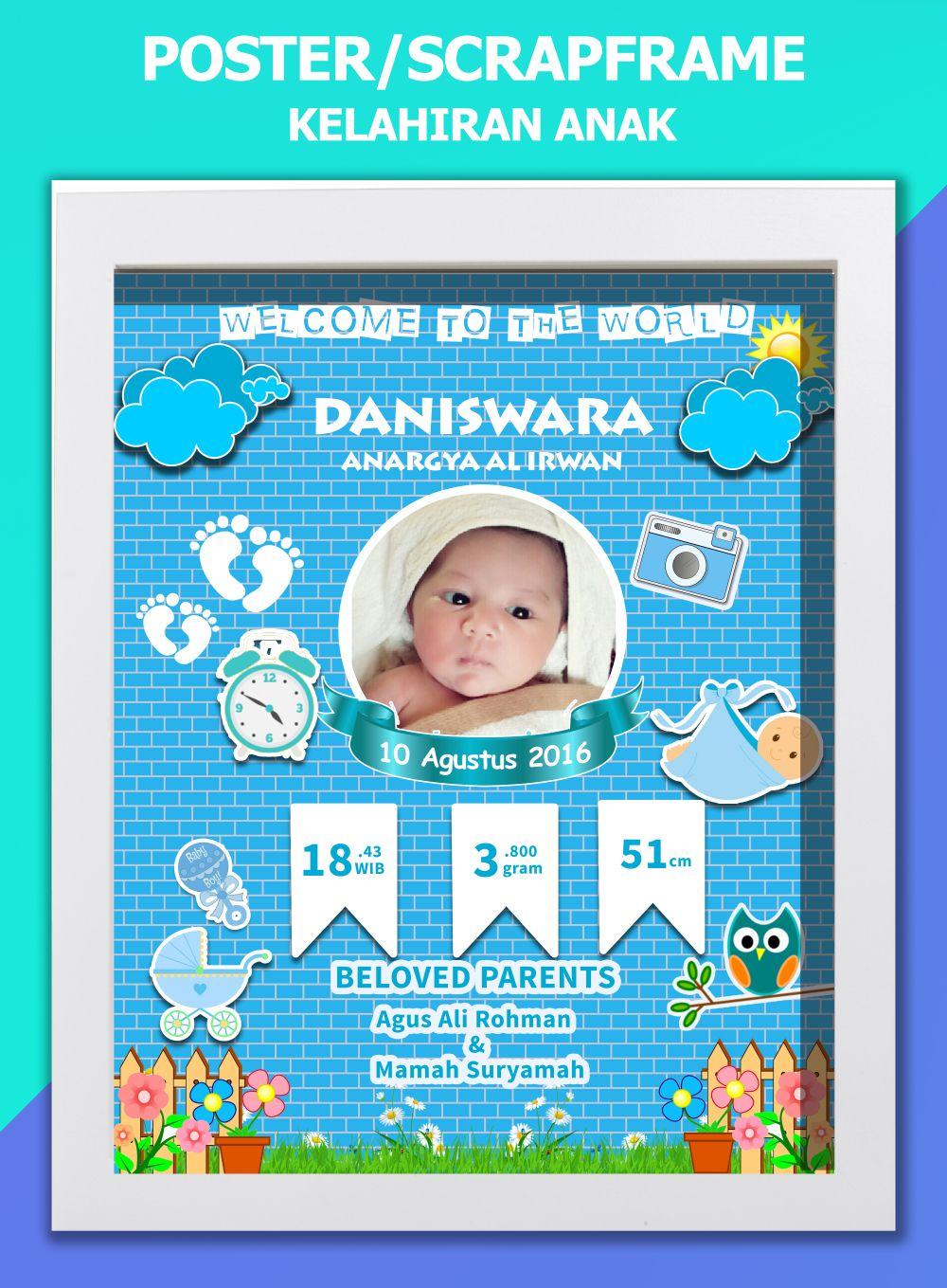 Desain Kartu Nama Bayi Baru Lahir Word Terbaru