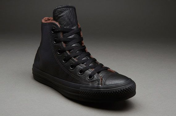 converse all star leather. converse chuck taylor all star leather hi - jet black