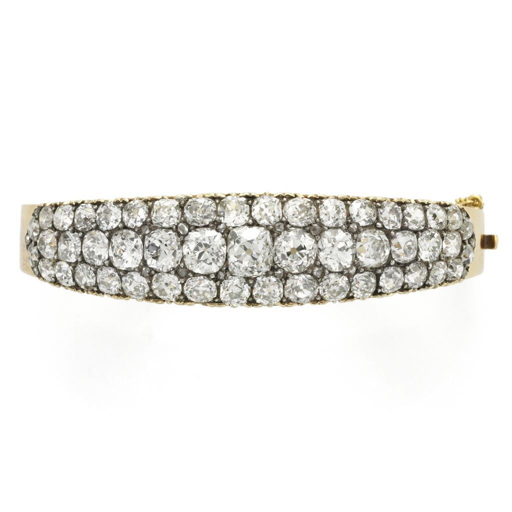 Antique Diamond bangle, English, circa 1870