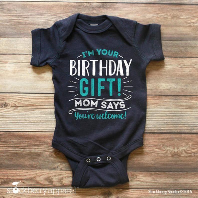 I/'m Your Birthday Present Daddy Birthday Onesie, Birthday Present