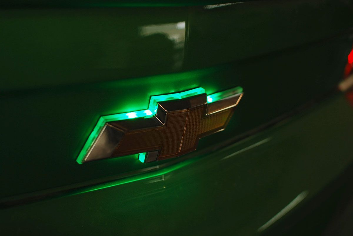 Chevy Camaro Green Led Rear Emblem By Flyryde Chevy