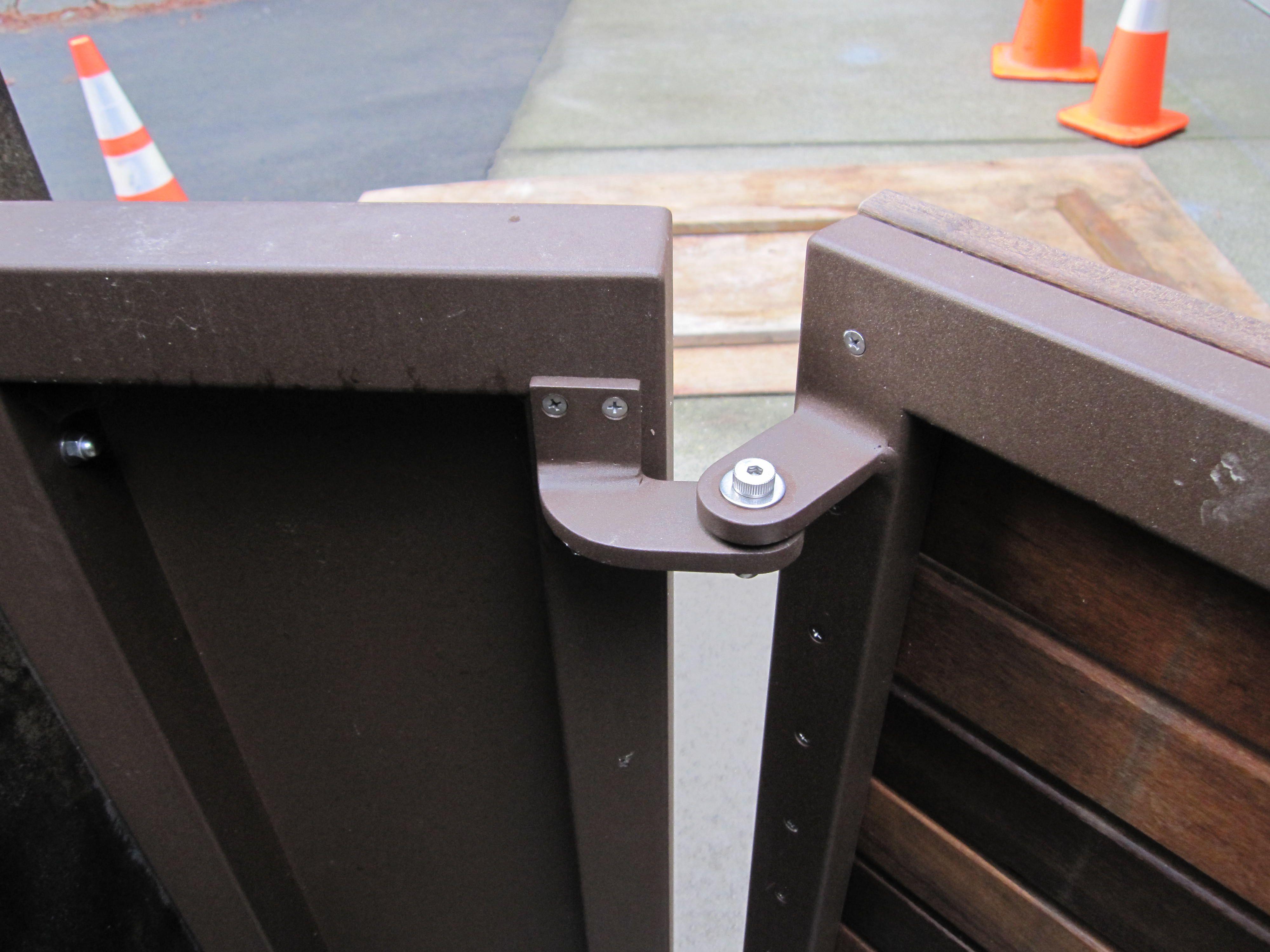 Custom Aluminum Gate hinges. Aluminium gates
