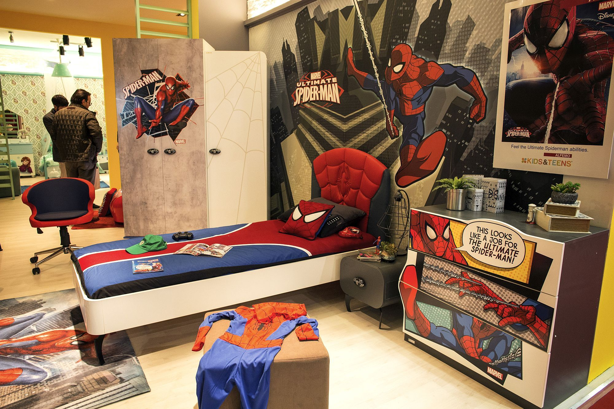 50 Latest Kids' Bedroom Decorating And Furniture Ideas  Bedrooms Stunning Spiderman Bedroom Furniture Design Inspiration