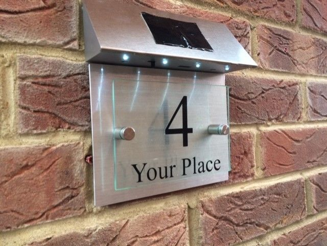 Address Signs Ebay Home Furniture Diy Glass And Aluminium