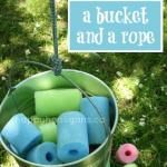 rope and hula hoop activity - happy hooligans - loose parts for play