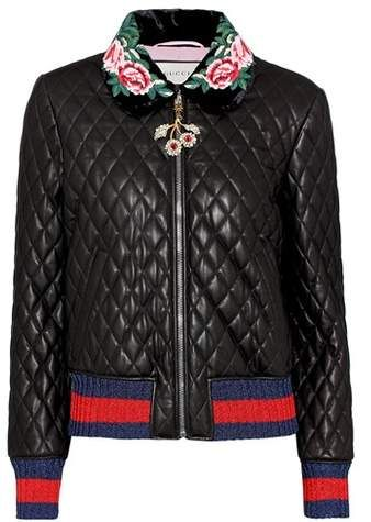84f244340 Gucci Quilted leather jacket | Women Apparel 2018 | Quilted leather ...