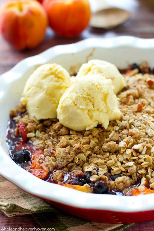 fruit crumble healthy fruit ice cream