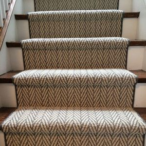 Best Contemporary Herringbone Design Carpet Runner On Stairs In 640 x 480
