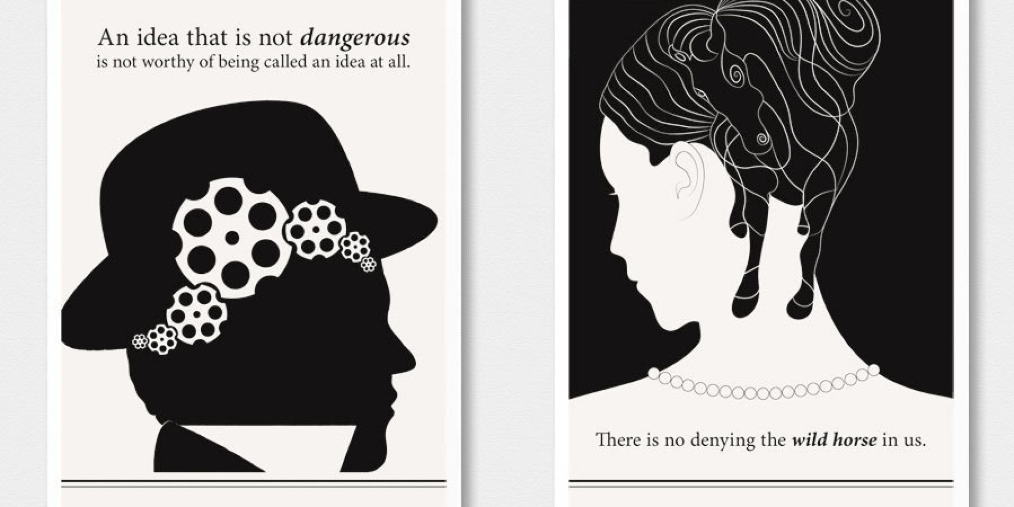 14 literary posters that turn famous authors u0026 39  words into
