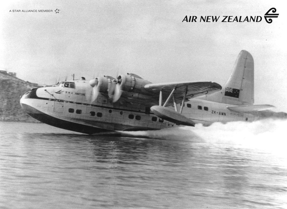 """Flying boat """"R M A  Awatere"""" (TEAL) #FlashbackFriday #AirNZ"""