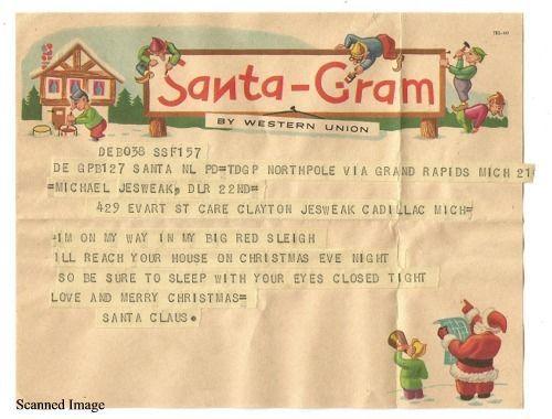 Vintage Western Union Santa Gram Letter 1961 Christmas Westernunion Vintage Western Lettering Vintage