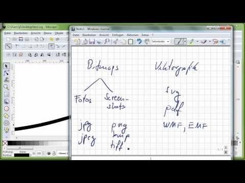 18 Inkscape, Teil 1, Vektorgrafik versus Bitmaps, SVG, PDF, WMF, JPG ...