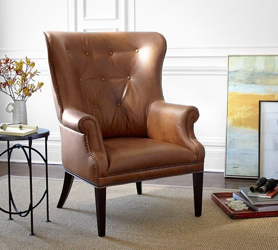 Hatton Tufted Wingback Leather Chair Is Similar In Style To Hickory Chairu0027s  Issac Tufted Wingback. No Finish Options For Legs. Part 59