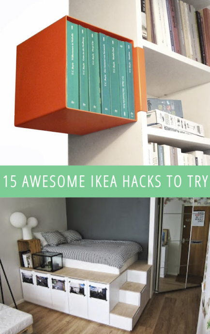 15 awesome ikea hacks to try ikea hacks pinterest ikea m bel ideen und haus. Black Bedroom Furniture Sets. Home Design Ideas