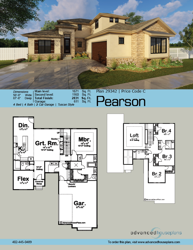 The Pearson Is A Tuscon 1 Story Home With A Sleek Exterior And Comfortable Interior Simpl Tuscan House Plans Mediterranean Homes Mediterranean Homes Exterior