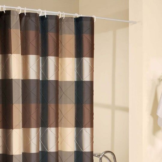 Splash Home Royal Court Brown Shower Curtain Curtains
