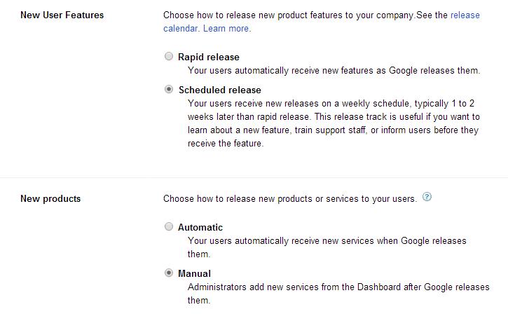 Google Apps Rapid Release