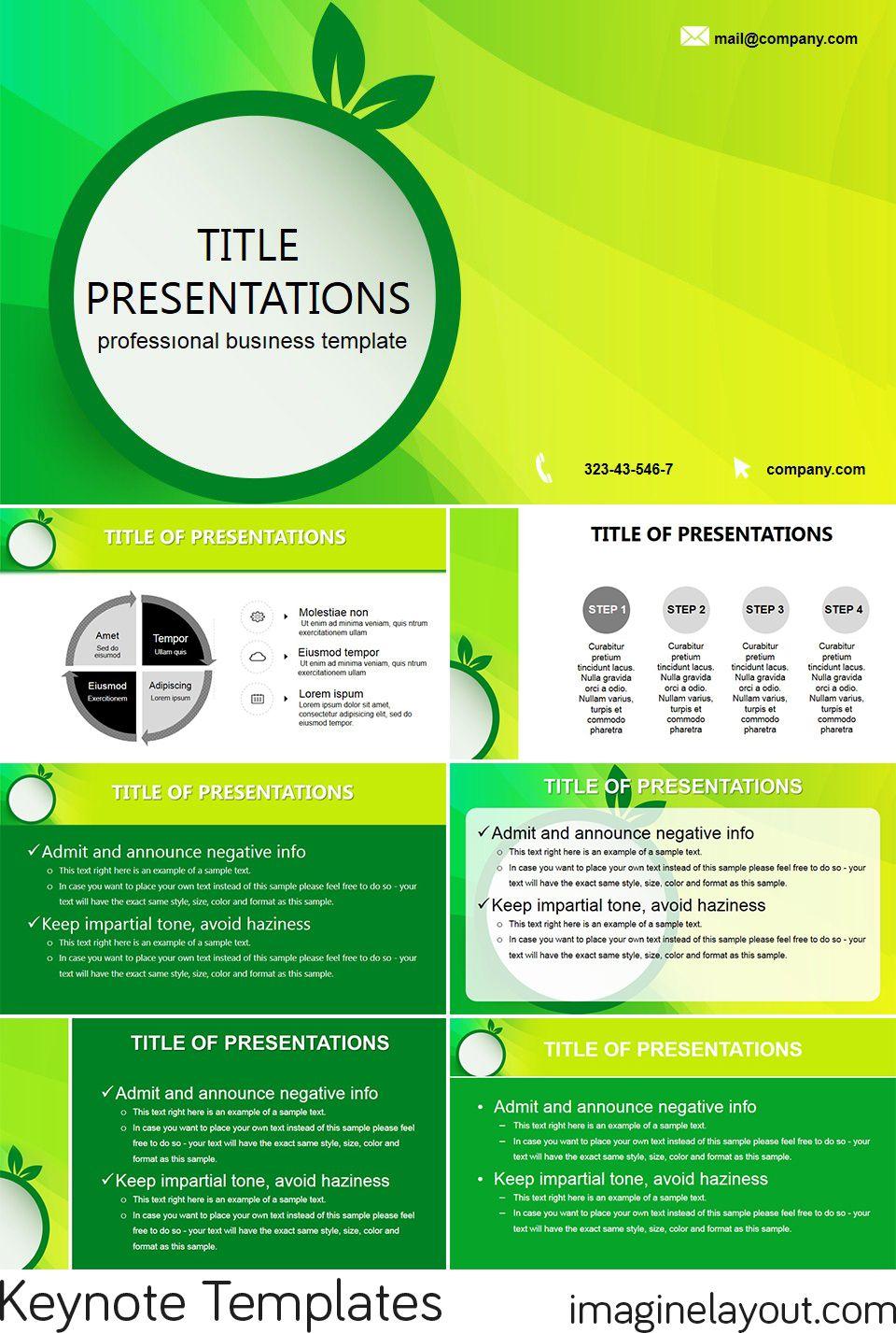 green eco lightning free keynote themes templates free keynote