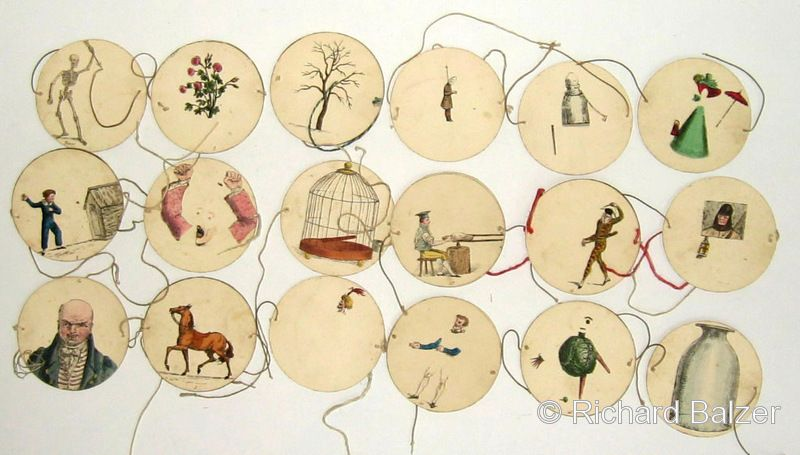 Thaumatrope's. Victorian magic - tiny paper whimsies that spun to create new images.