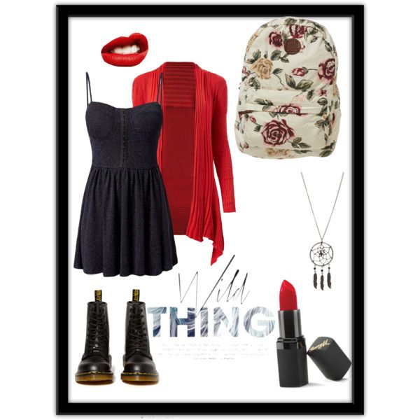 Red & black. Lets be wild. by jeann103 on Polyvore featuring Madam Rage…