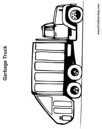 Garbage Truck Coloring Pages Truck Coloring Pages