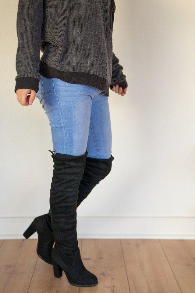 size 40 ef4a8 7e38d Overkneestiefel für kleine Frauen   Schuhe in Untergrößen ...