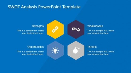 creative swot flat design diagram for powerpoint | presentation, Powerpoint templates