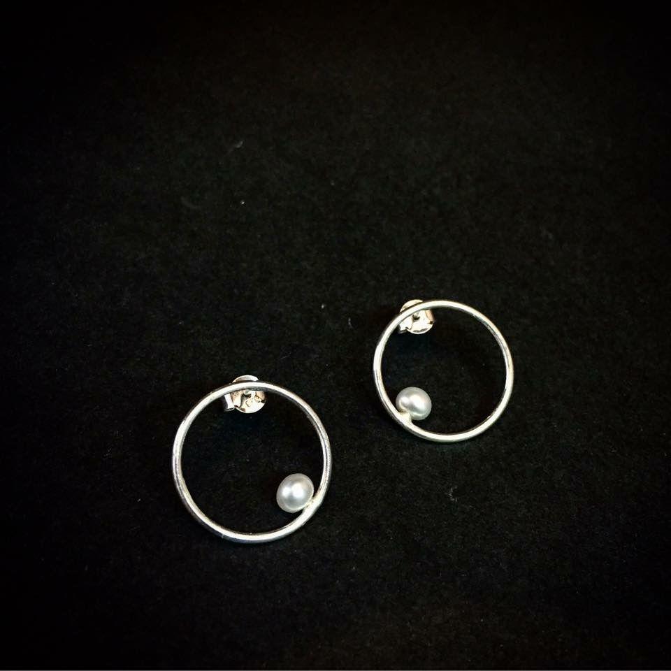 Pendientes de plata con perlas naturales