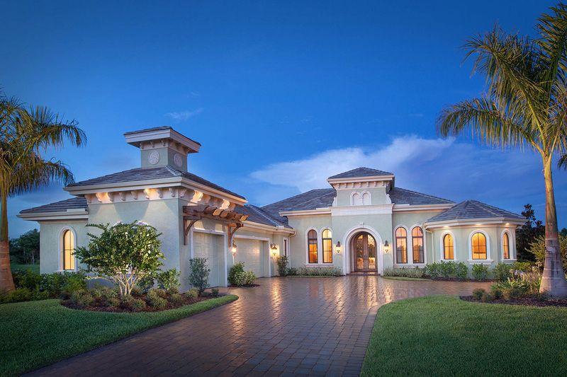 Mediterranean style home exteriors