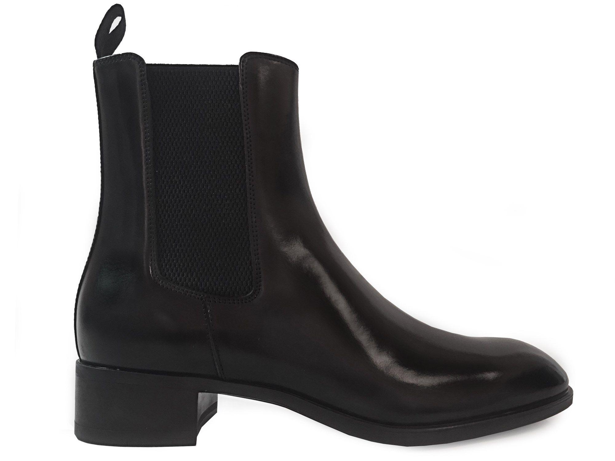 29126b85761f7 Boots Santoni - Elody en cuir patiné noir   Collection A H 16 ...