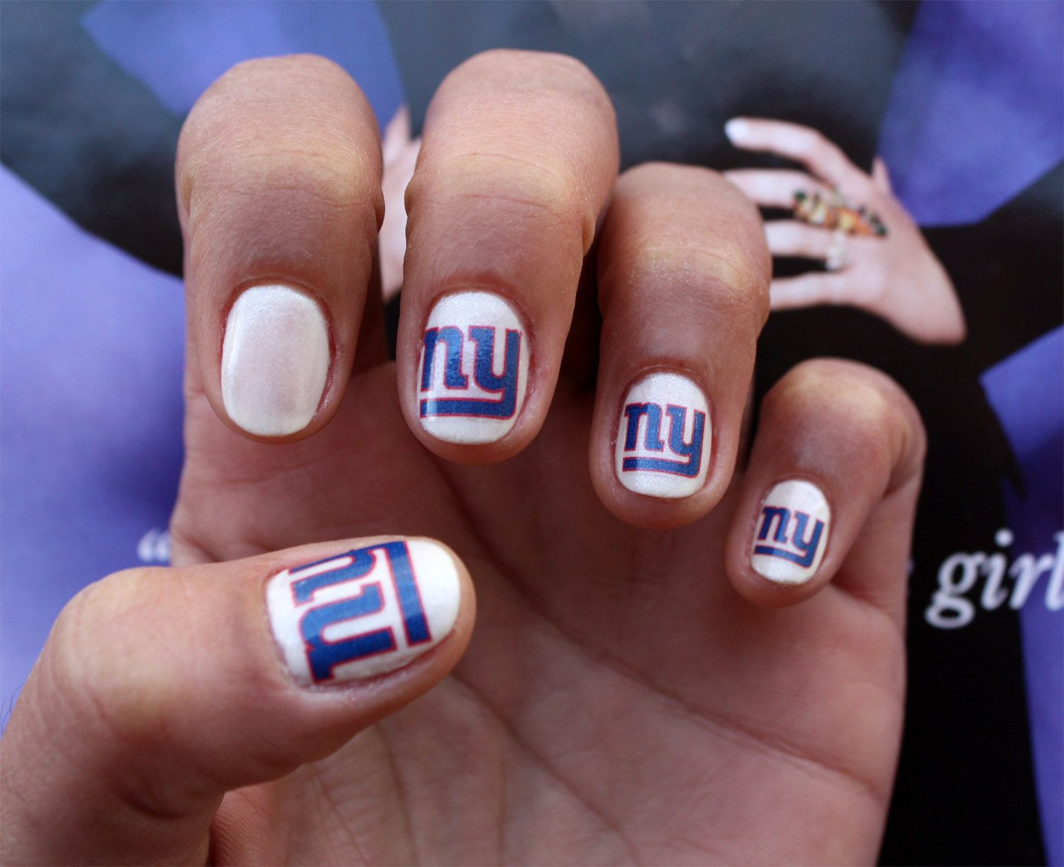 New York Giants Nail Art Decals by NailSpin on Etsy, $5.00   Nails ...
