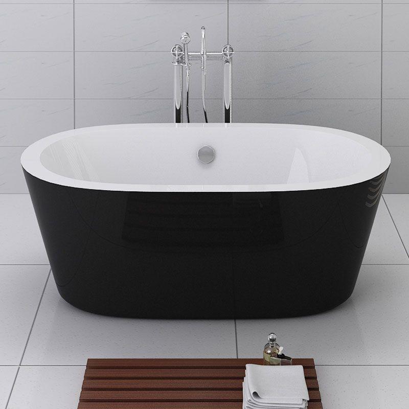 baignoire îlot ovale 170x80cm acrylique  evora  salle